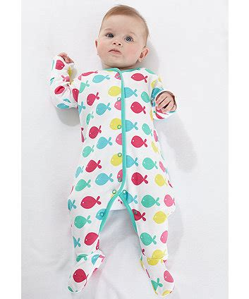 Mothercare Sleepsuit 4 mothercare fish sleepsuit sleepsuits mothercare