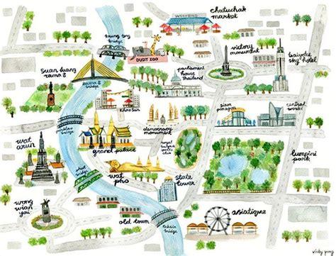 travel infographic map  bangkok  vicky