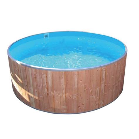 Folie Holz Blau by Rundbecken Fun Wood 350x90cm Folie 0 6mm Blau