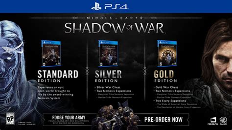 Ps4 Middle Earth Shadow Of War Silver Edition 1 middle earth shadow of war pc ps4 xboxone สเปค pc