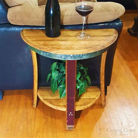 small half moon table small half moon side table central coast creations
