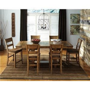 signature design by krinden rustic rectangular counter extension table miskelly