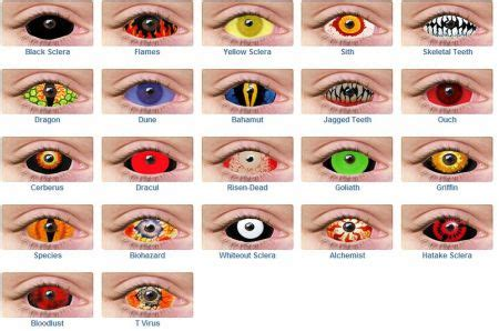 scary colors color contacts guide color contacts