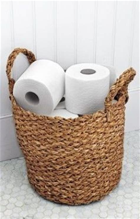 guest bathroom basket ideas toilet paper basket for our beach theme guest bathroom
