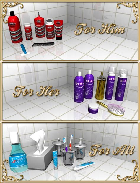 his and hers bathroom bathroom accessories a doodle design creation at hivewire 3d