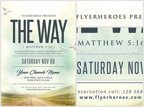 church event flyer templates the way church event flyer template flyerheroes