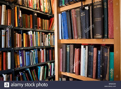 second books on shelves in bookshop with religios