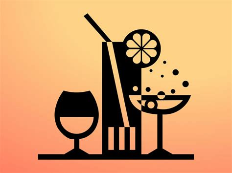 Cocktails Icon Vector Graphics Freevector Com