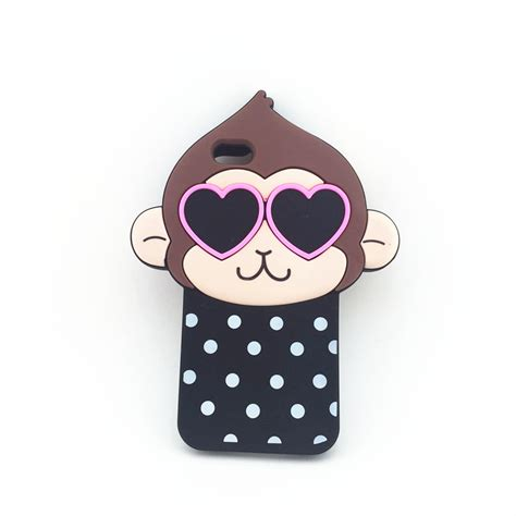 Silicone Rubber 3d Toys Samsung S4 S5note 3 4 Iphone 6 3d monkey animal silicone phone cover soft skin