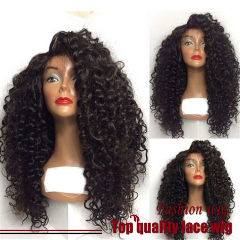 Review Fiber Wig by Cheap Sale Fiber Curly Wigs Synthetic Lace Front