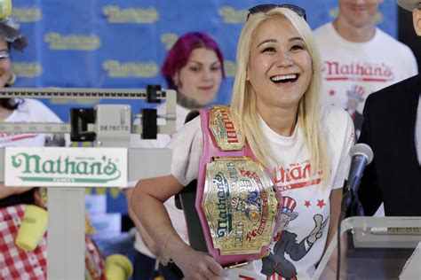 female hot dog eating contest winner las vegas miki sudo wins 5th straight nathan s hot dog