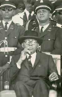 pres francois quot papa doc quot duvalier of haiti sits on top