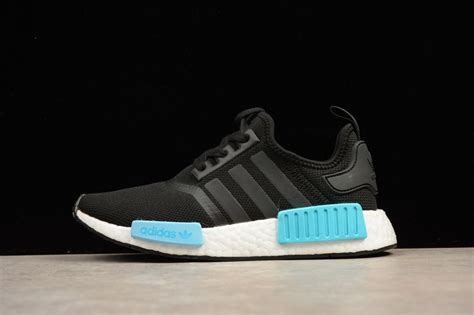 adidas nmd r1 icey blue black white by9951 s casual shoes sneakers big sale