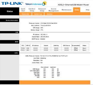 Modem Speedy Tp Link Td 8817 cara setting modem tp link td 8817 untuk speedy