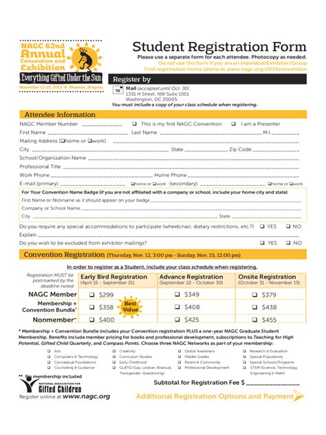 Student Registration Form   5 Free Templates in PDF, Word