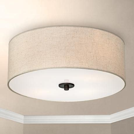bedroom ceiling light shades bronze with white shade 18 quot wide ceiling light fixture