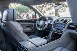 Bentley Suv Interior New Bentley Bentayga Luxury Suv Review Pictures Auto