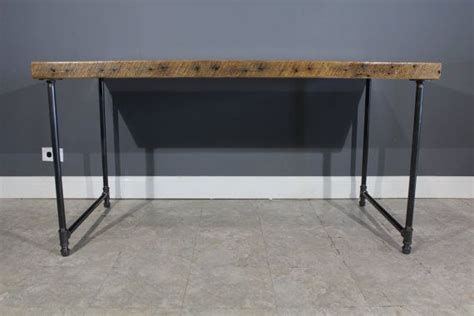 Gas Pipe Desk by Reclaimed Farm Wood Custom Made Desk Table W Gas