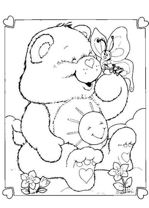 care bear coloring pages free care bears funshine coloring books coloring pages