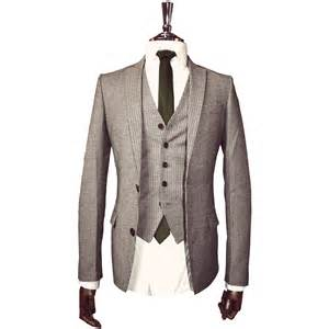 Wool Brown Herringbone Suit Jacket Vintage Style Mens Slim Fit Tweed » Ideas Home Design