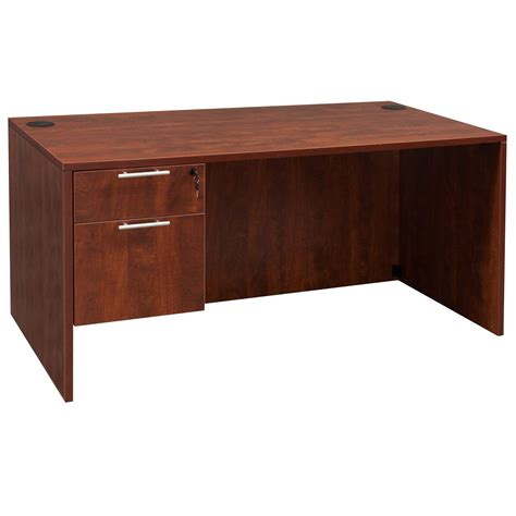 Everyday 30 215 60 Single Pedestal Laminate Desk Cherry Cherry Desk