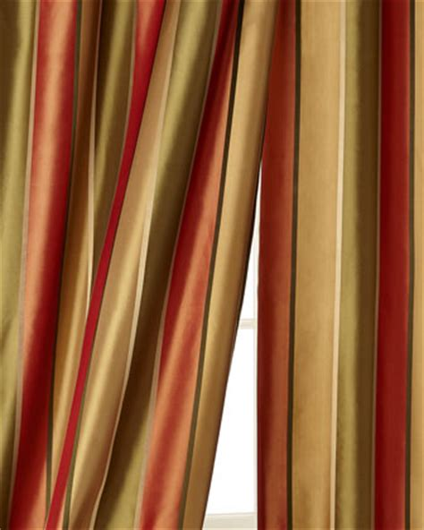 striped silk drapes striped window treatment neiman marcus