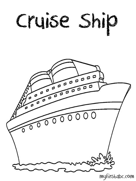 Cruise Ship Coloring Page Cruise Ship Coloring Page My First Abc