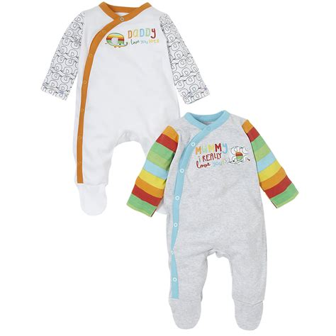 Mothercare Sleepsuit 4 mothercare baby newborn boy s unisex mummy and sleepsuit 2 pack ebay