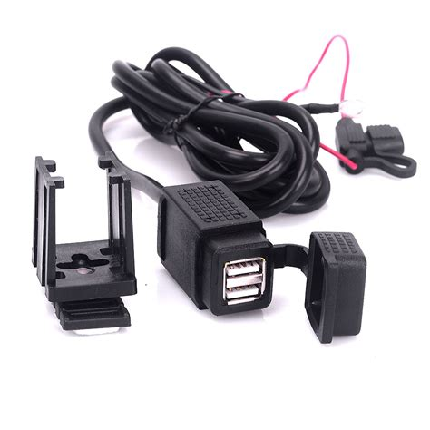 Motorcycle Usb Charger motorcycle cellphone dual usb charger 12v power socket power adapter 2 1a waterproof usb charger