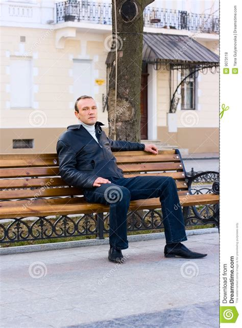 sit on a bench man sit on bench royalty free stock photos image 9073118