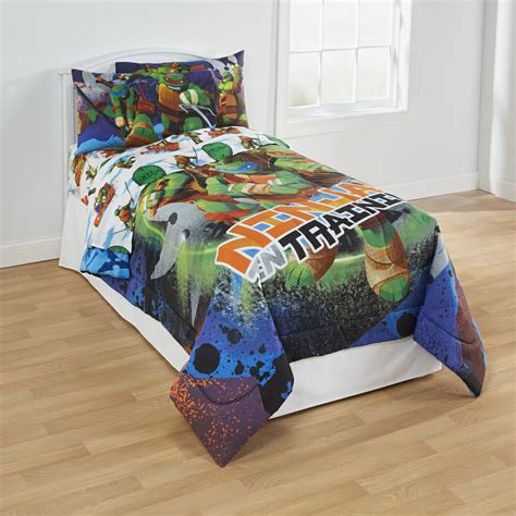 ninja turtle bedding set nickelodeon teenage mutant ninja turtles boy s twin sheet
