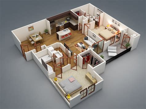 2 bed 2 bath 50 four 4 bedroom apartment house plans bedroom