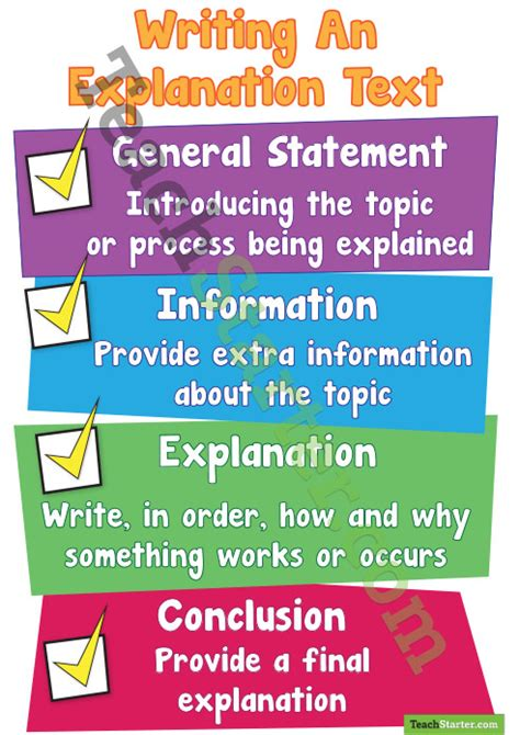 Academic Progress Explanation Letter Yorku writing an explanation text poster