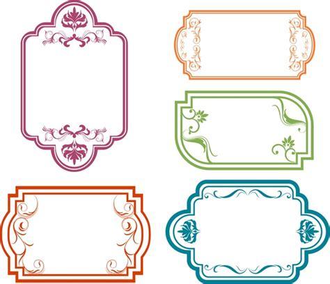 design a frame online frames design collection various shapes in colors free