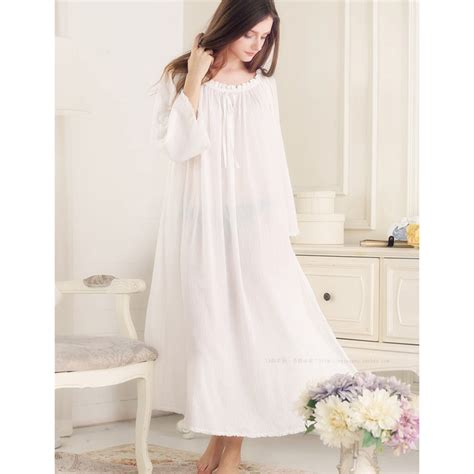 comfortable nightgowns retro princess nightgowns pure cotton comfortable long