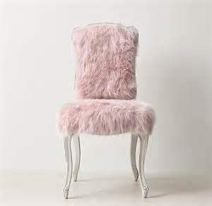 pink faux fur cabriole legs desk chair