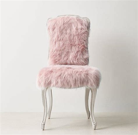 Faux Fur Desk Stool by Pink Faux Fur Cabriole Legs Desk Chair