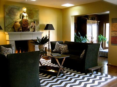 chevron living room decorating with stripes for a stylish room