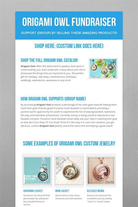 Origami Owl Direct Sales - the 25 best origami owl fundraiser ideas on
