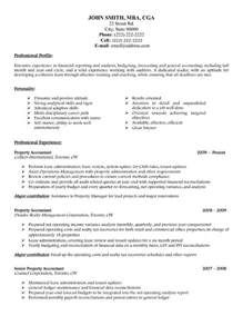 Accounting Resume Template by Property Accountant Resume Template Premium Resume Sles Exle