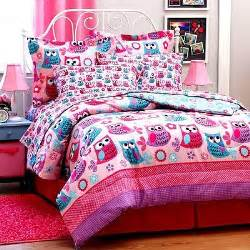 girls twin bedding sets teen pink lavender owl 6pc twin or 8pc full size