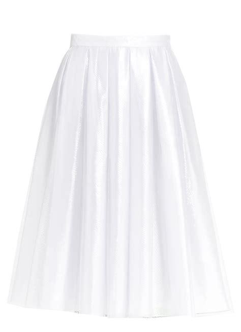Whita Skirt pleated white satin skirt with sheer overlay elizabeth s custom skirts
