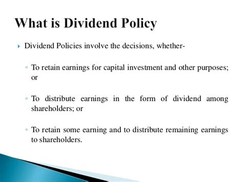 What Is Mba Investment Management by Dividend Policies Financial Mgt
