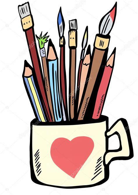 Tassen Bemalen Stifte by Stifte Stifte Und Pinsel Malen Die Keramische Tasse