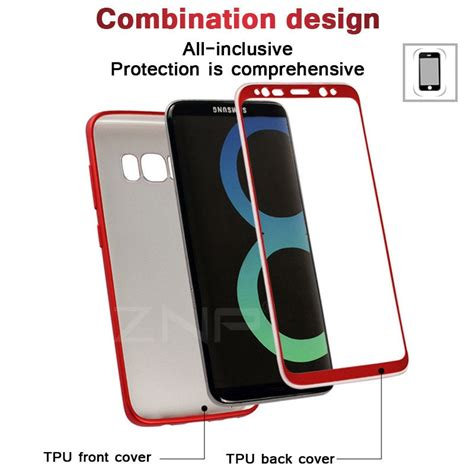 Softcase 360 Sillicon Cover Samsung S8 S8 Plus Soft Ultrathin znp soft tpu silicone 360 protected cover for samsung galaxy s8 s8 plus phone for