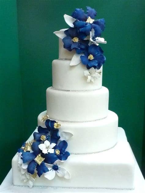 Blue Flower Wedding Cake by Cakes Washington Dc Maryland Md Wedding Cakes Northern Va