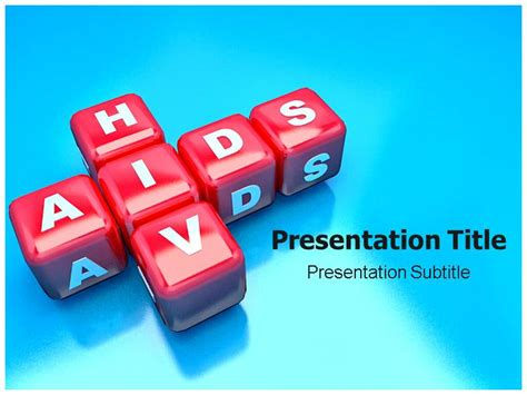 aids template hiv aids powerpoint templates presentation and background