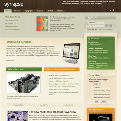 rockettheme synapse download joomla responsive template