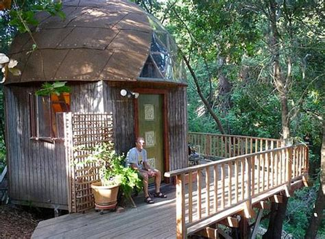 stay in the mushroom dome tiny house in aptos california tiny mushroom dome home tiny house pins
