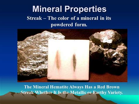 color of a powdered mineral building a house out of minerals ppt